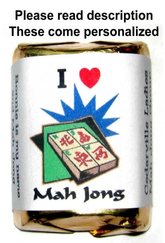 60 MAH JONG PARTY CANDY WRAPPERS FAVORS