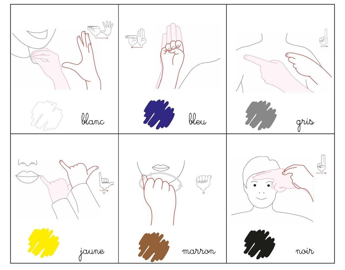 M mo les couleurs lsf makaton et language des signes pinterest langage - Langage des couleurs ...