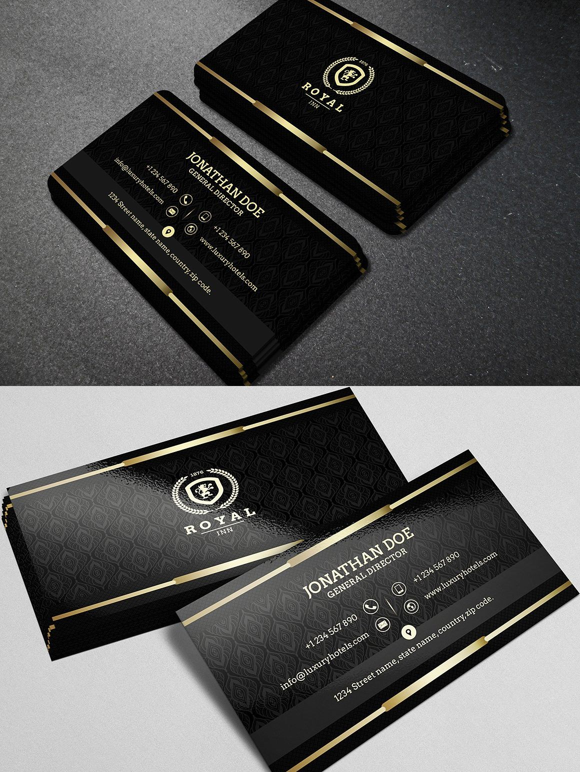 Gold and black business card 40 luxury business cards