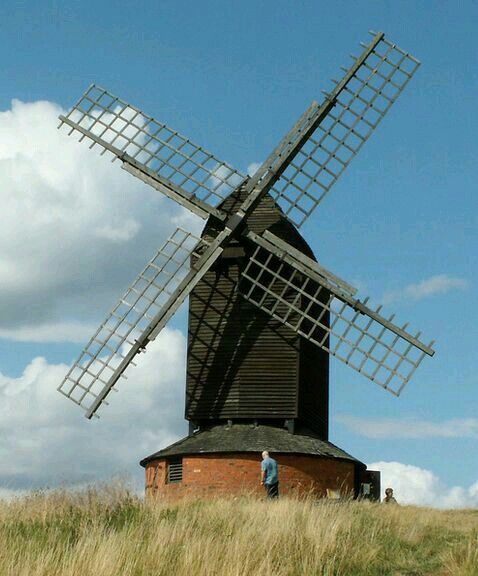 Brill post mill in Buckinghamshire. Built around 1680. This Mill featured in an episode of the ITV Detective drama 'Midsomer Murders', with John Nettles.
