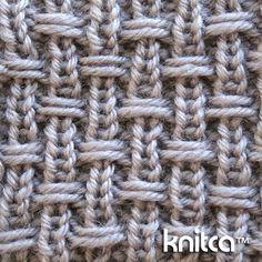 lado derecho de tejer patrón de la puntada - puntada del resbalón 14: www.knitca.com