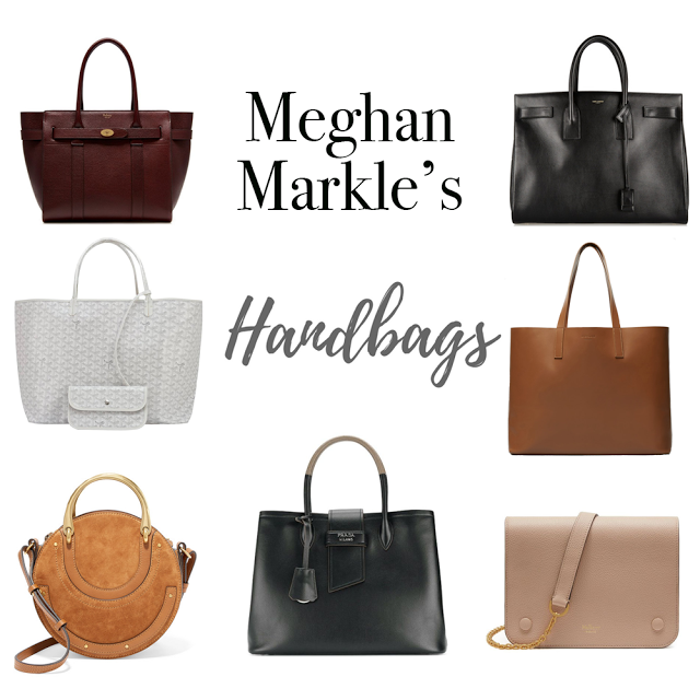 f5c64ff0a781 Steal Meghan Markle's Style: Handbags // Meghan carries some beautiful and  classic bags from designers like Mulberry, Saint Laurent, Goyard, Prada, ...