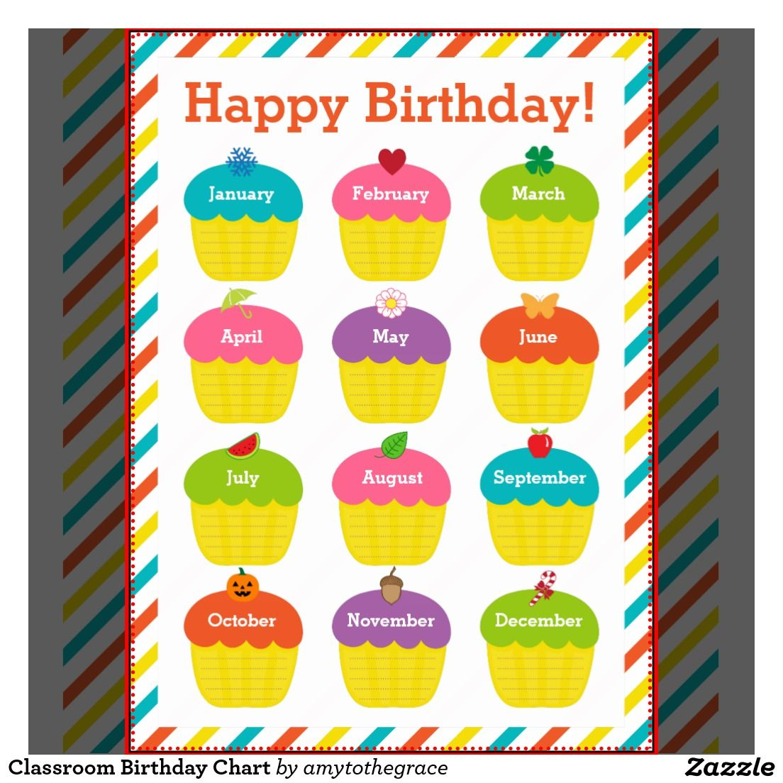 Birthday calendar classroom google zoeken kalender for Birthday chart template for classroom