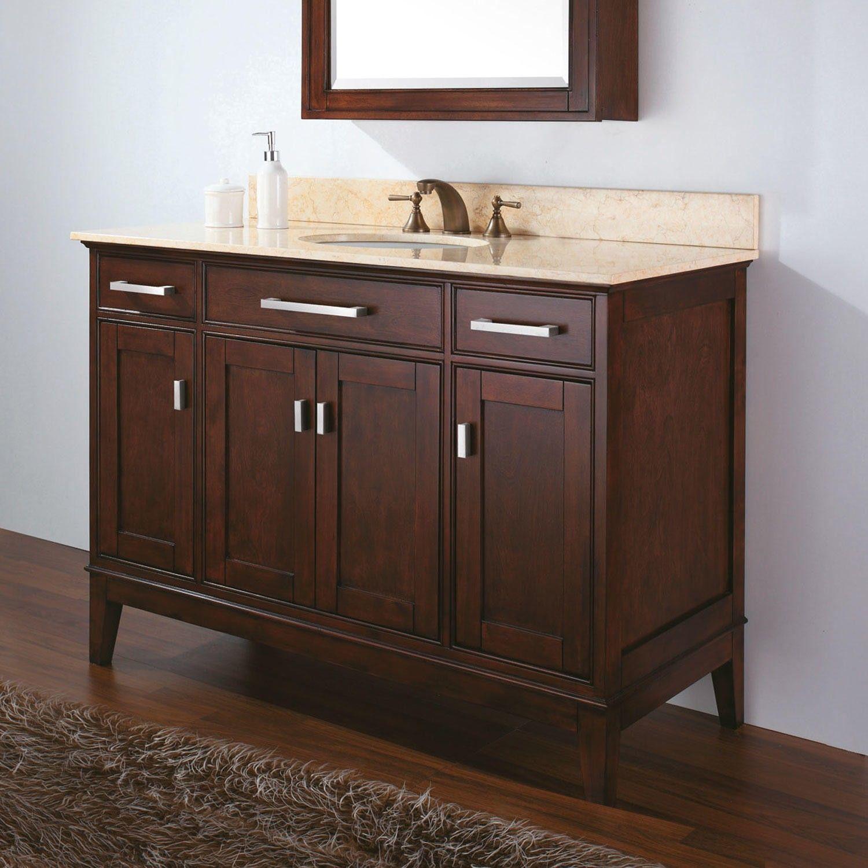 48 Quot Light Espresso Madison Vanity For Undermount Sink