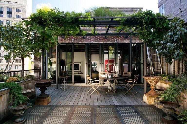Grüne Dachterrasse atemberaubende terrassen in architektenhäusern dachterrasse mit