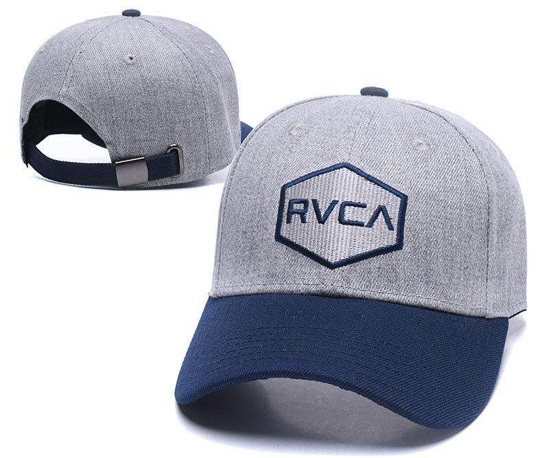 Men's / Women's RVCA Commonwealth Curved Dad Hat - Grey / Navy