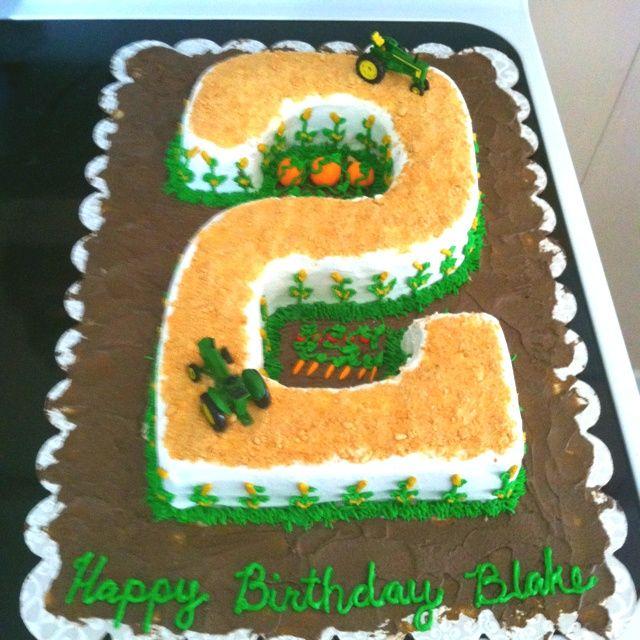 Tractor birthday cakes Pinterest Tractor number 2 birthday cake