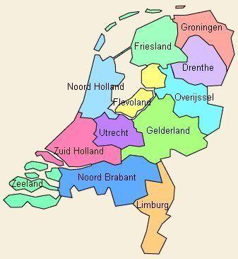 Nederlandse Provincies Nederland Holland Groningen