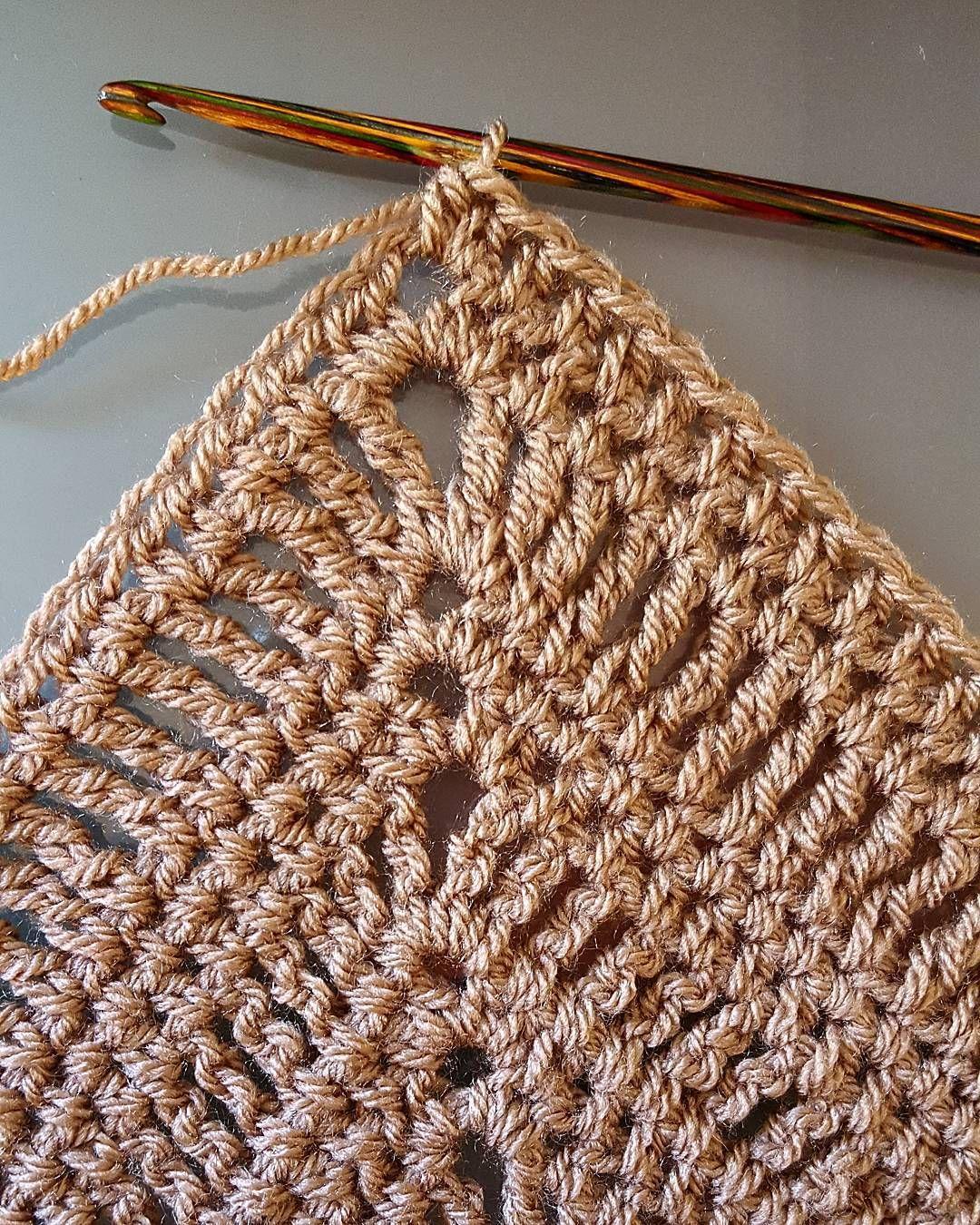 """Sunday shawl in mocha. #crochet #hooker #stylecraftspecialdk #mocha"""