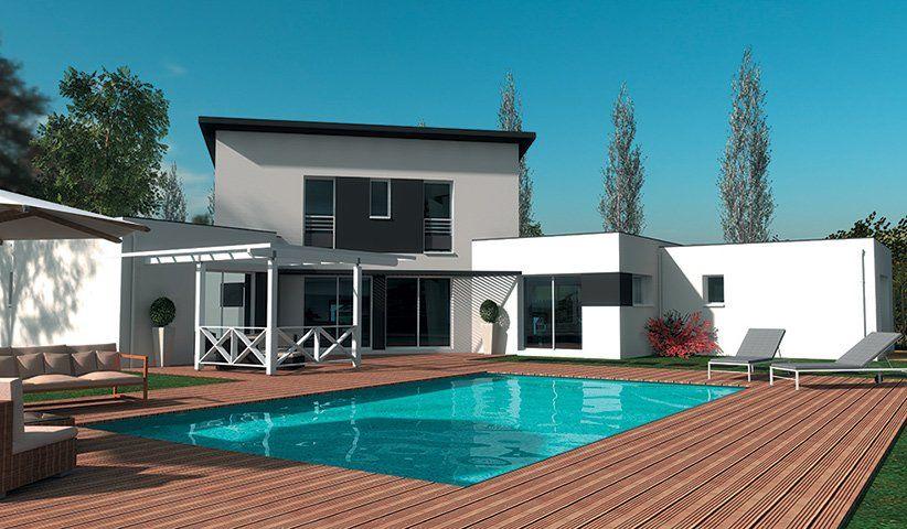 Maison CONTEMPORAINE à étage 180 m² 4 chambres
