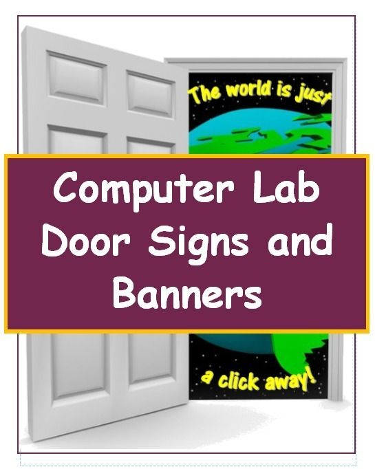 Computer Lab Posters And Signs Computers Pinterest Computer
