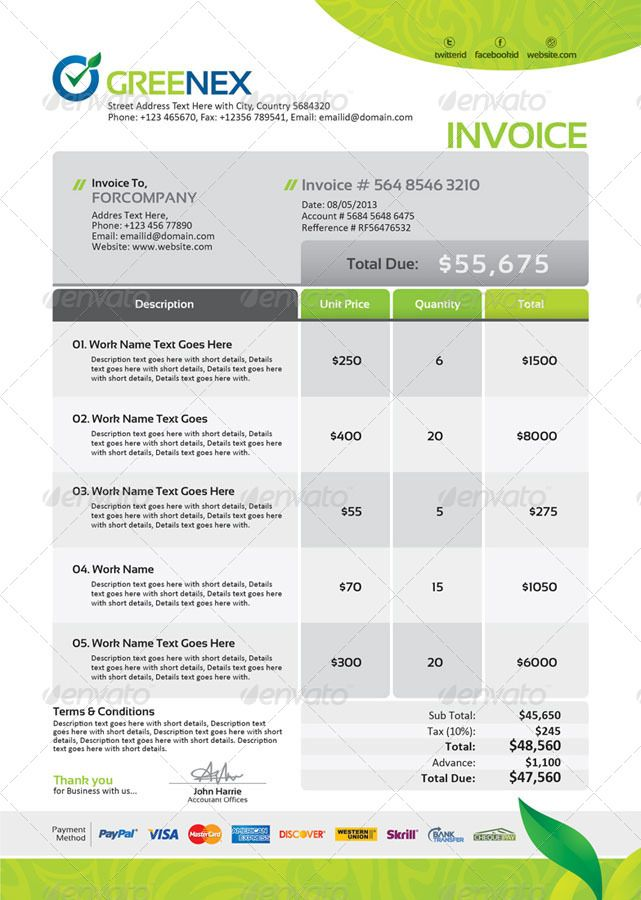 Nice Invoice Design  Design