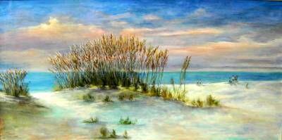 Beach Scene Acrylic Sofa Sized Painting John Cannon Art John With Images Beach