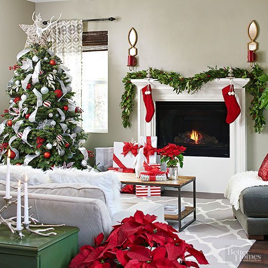 Beautiful traditional Christmas decor