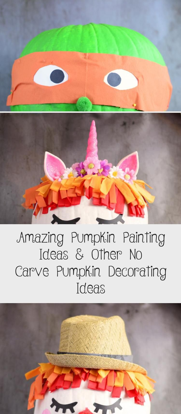 Amazing Pumpkin Painting Ideas & Other No Carve Pumpkin Decorating Ideas #paintingideasYellow #paintingideasArt #paintingideasTutorials #Glasspaintingideas #paintingideasSpace #pumpkinpaintingideas