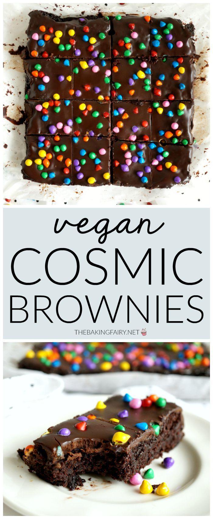 Photo of vegane hausgemachte kosmische Brownies   Die Backfee