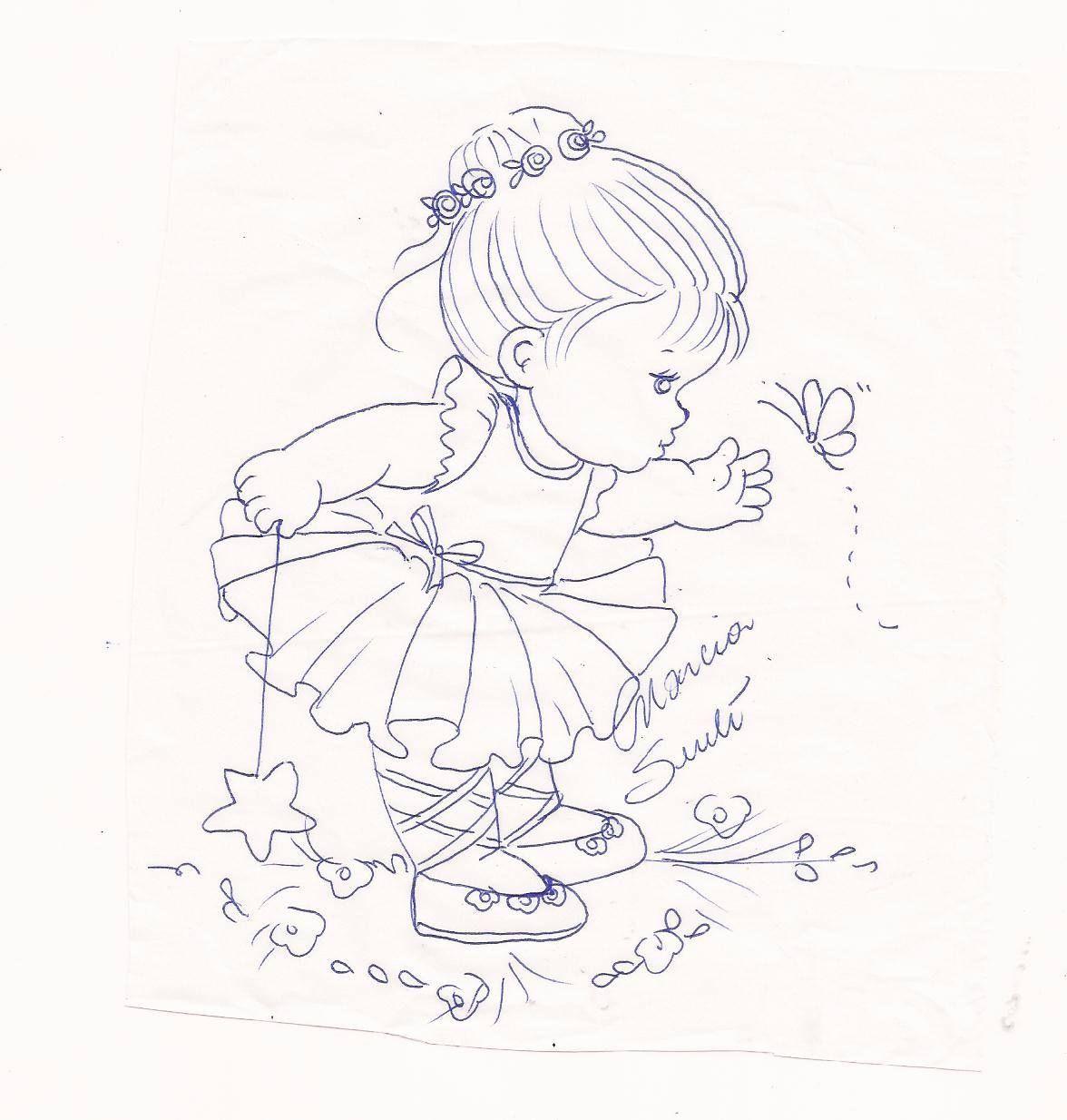 Bb bailarina pintura en tela pinterest pintura en - Dibujos para pintar sobre tela ...