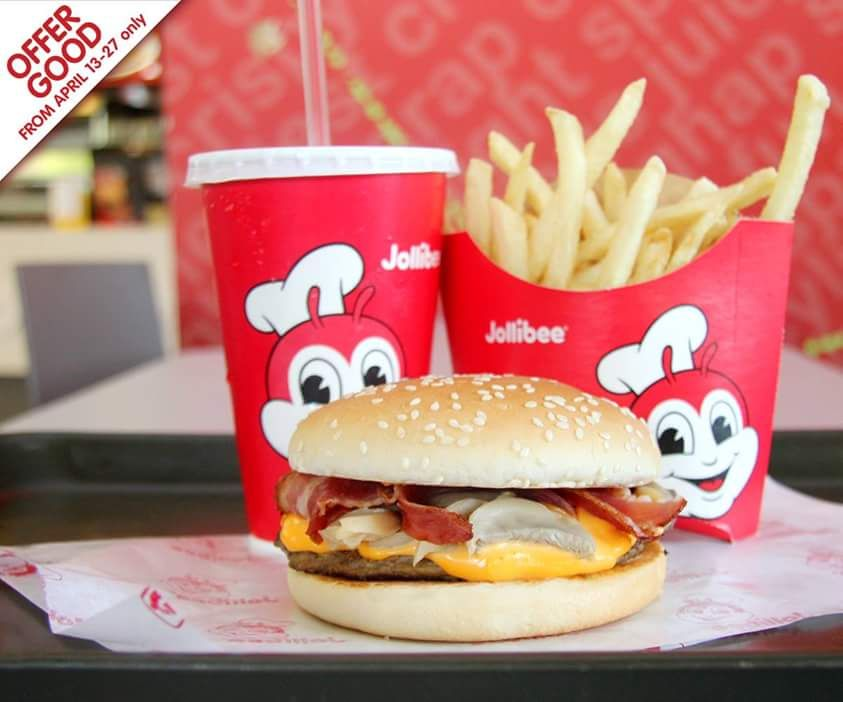 Get a FREE upsize on your fries when you buy your favorite Cheesy Bacon Mushroom Yum Value Meal from April 13-27! Head to Jollibee located at the Lower Ground Level of #SMSouthmall! #ILoveSM #ILoveSMSouthmall
