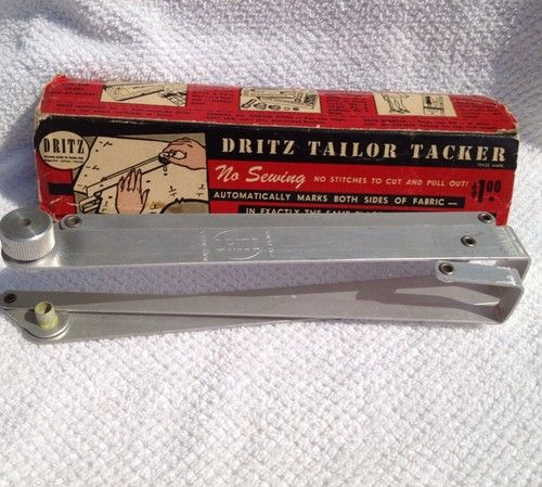 Vintage Dritz Tailor Tacker W Box Seamstress Tool Marks 2