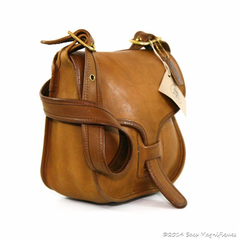 Authentic Vintage Coach Bonnie Cashin Courier Messenger Bag Tabac Tan NYC  8920 ba41b24941784