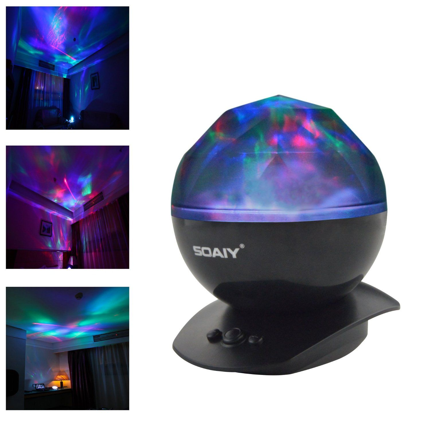Childrens colour changing lights - Soaiy Color Changing Led Night Light Lamp Realistic Aurora Star Borealis Projector For Children