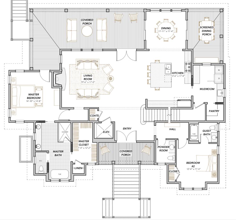 Olive Ibis Ii Home Plan Flatfish Island Designs Coastal Home Plans Beach House Plans House Plans Mansion Floor Plan
