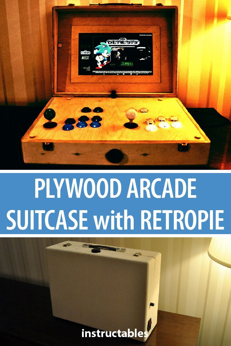 Plywood Arcade Suitcase With Retropie | Electronics Projects