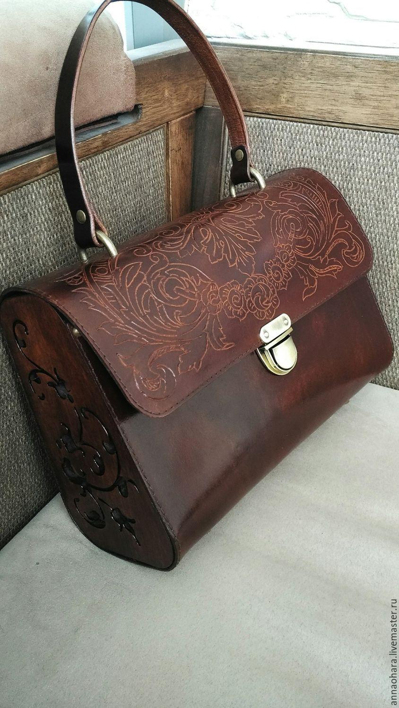 8675489bc6ec Сумка из кожи и дерева Винтаж. Женская сумка кожа – купить в интернет-магазине  на Ярмарке Мастеров с доставкой