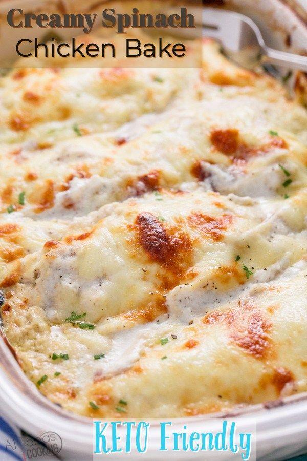 Creamy Spinach Chicken #creamychickencasserole