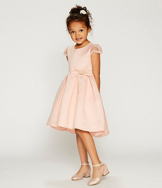 Dillards Wedding Gifts: Rare Editions Little Girls 2T-6X Embellished-Sleeve Satin