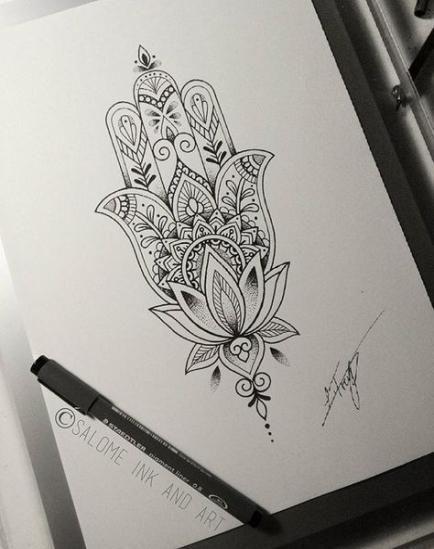 Photo of Tattoo lotus hand hamsa 35 ideas