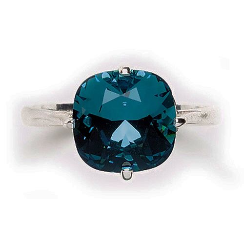 Sterling Silver Indicolite Ring At TheShayBoutique.com