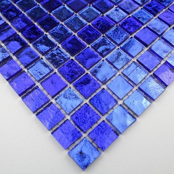 carrelage verre mosaique douche salle de bain gloss bleu On carrelage salle de bain bleu