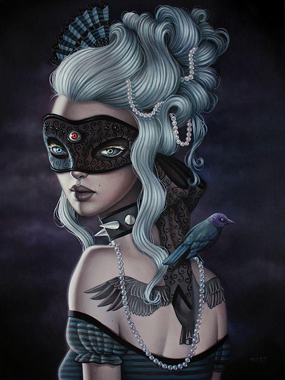 "Sarah Joncas    ""Masquerade""  (2012)  Oil on canvas  Framed  18 x 24""  46 x 61 cm  $1,700  SOLD"