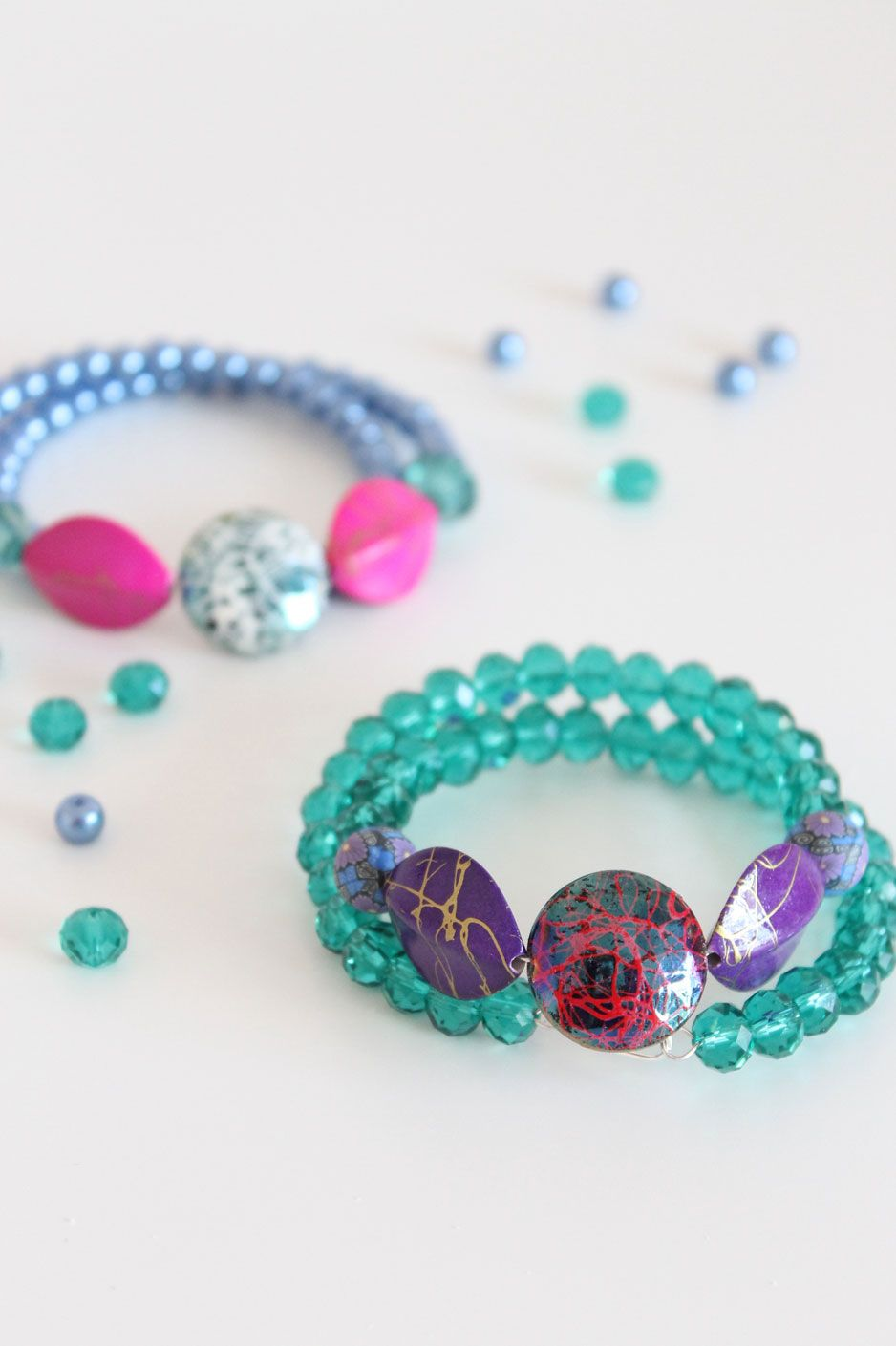 DIY : Beaded Cuff Bracelet - Jewelry From Home Blog