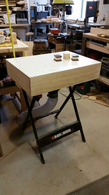 Downdraft sanding table on a workmate base pinteres downdraft sanding table on a workmate base greentooth Image collections