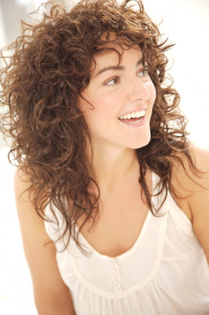 Naturally Curly Hair With Bangs