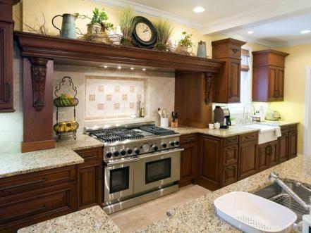 Mediterranean Style Kitchens Decorating Above Kitchen Cabinets