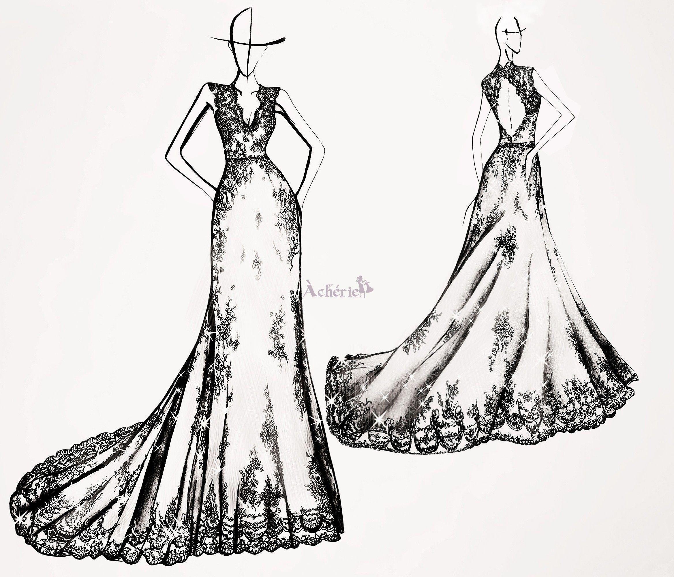 dessins de robe pour mariage