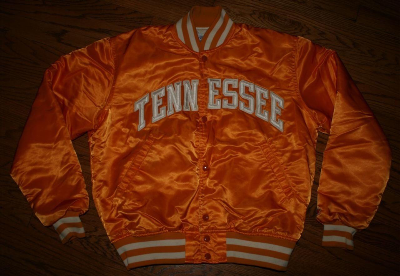 Vintage TENNESSEE VOLS Volunteers Football STARTER Satin Snap JACKET-Mens  Medium 41551335a