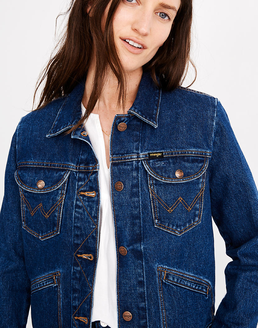Wrangler Icons Jean Jacket Jean Jacket Women Jackets Jean Jacket [ 1054 x 830 Pixel ]