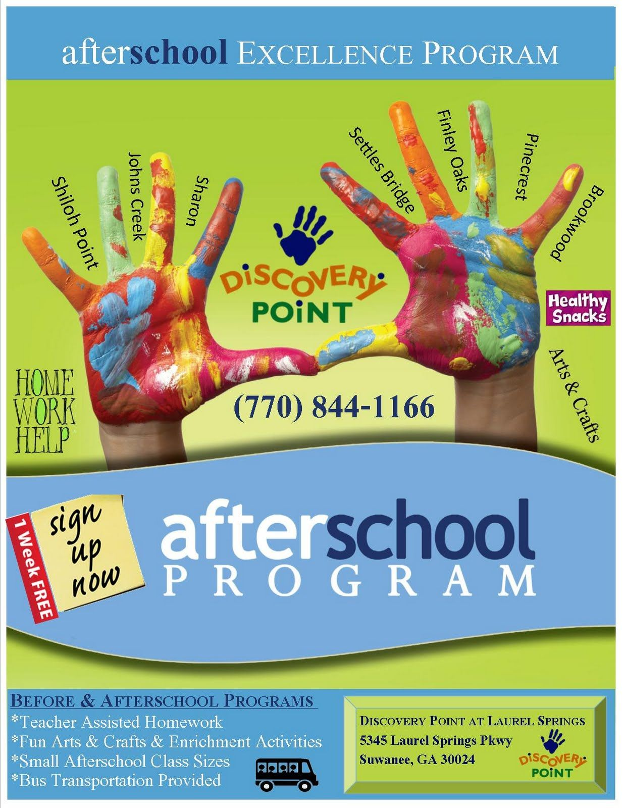 After School Program Poster With Images