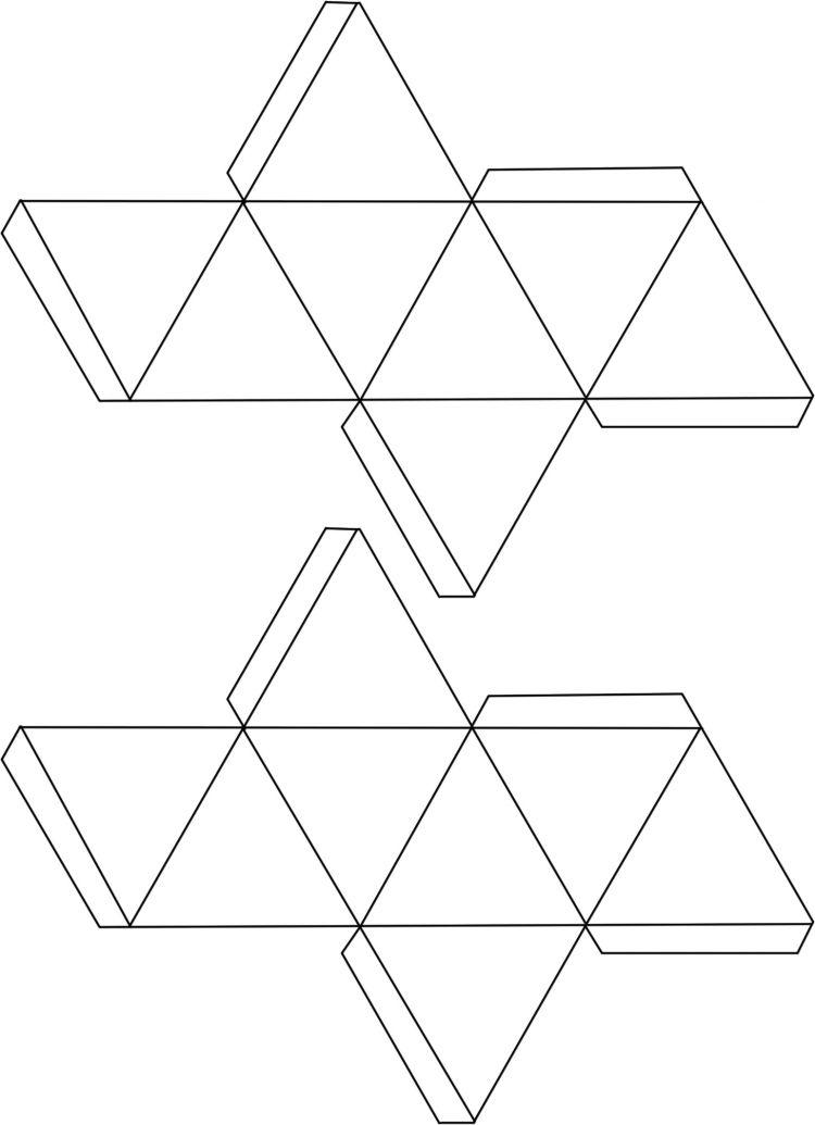 Vorlage f r hohlk rper zum falten oktaeder diy for Weihnachtsdeko basteln vorlagen kostenlos