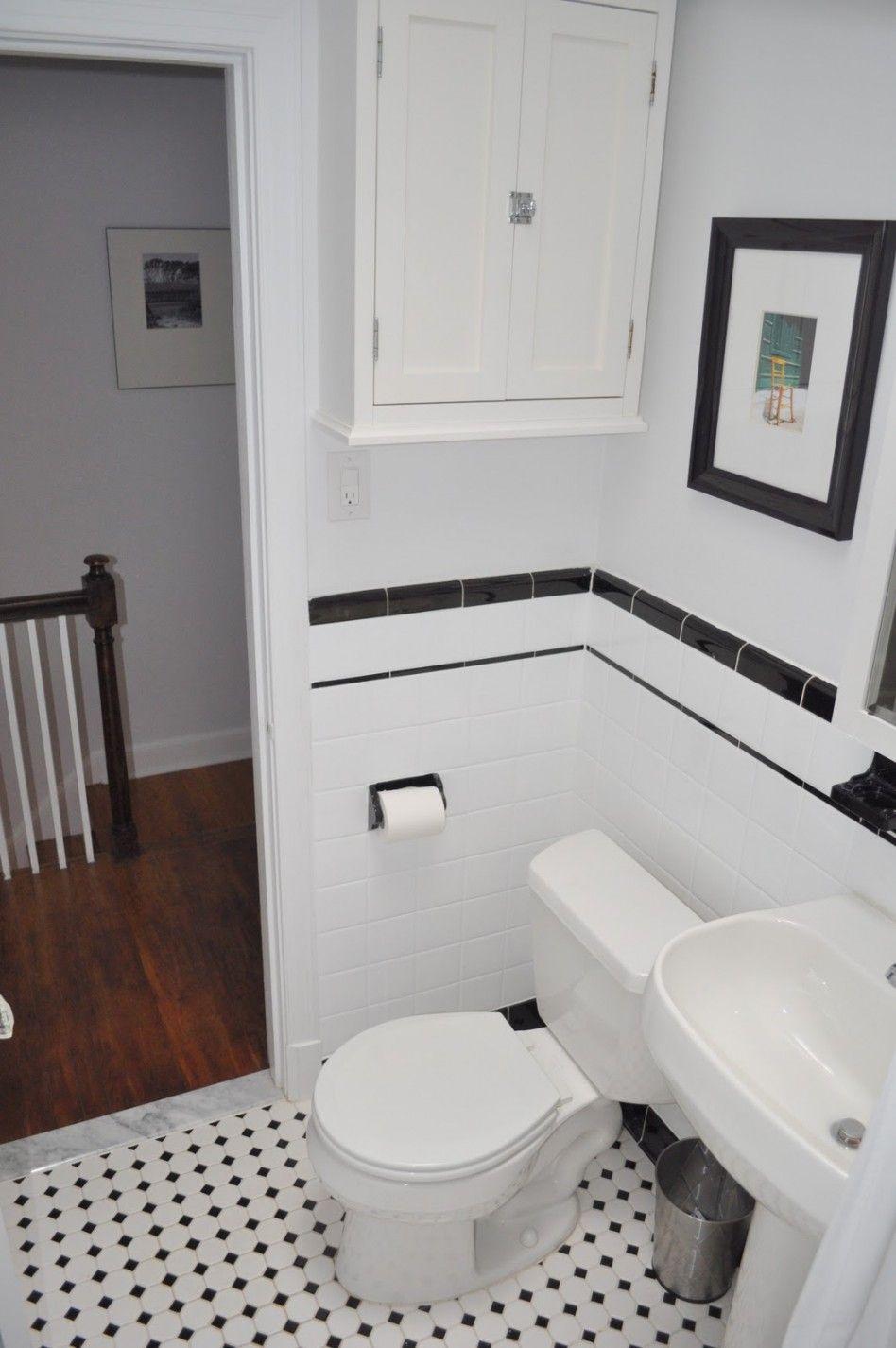 Black and white subway tile bathroom home design nice bathroom good looking black and white small bathroom white subway tile doublecrazyfo Images