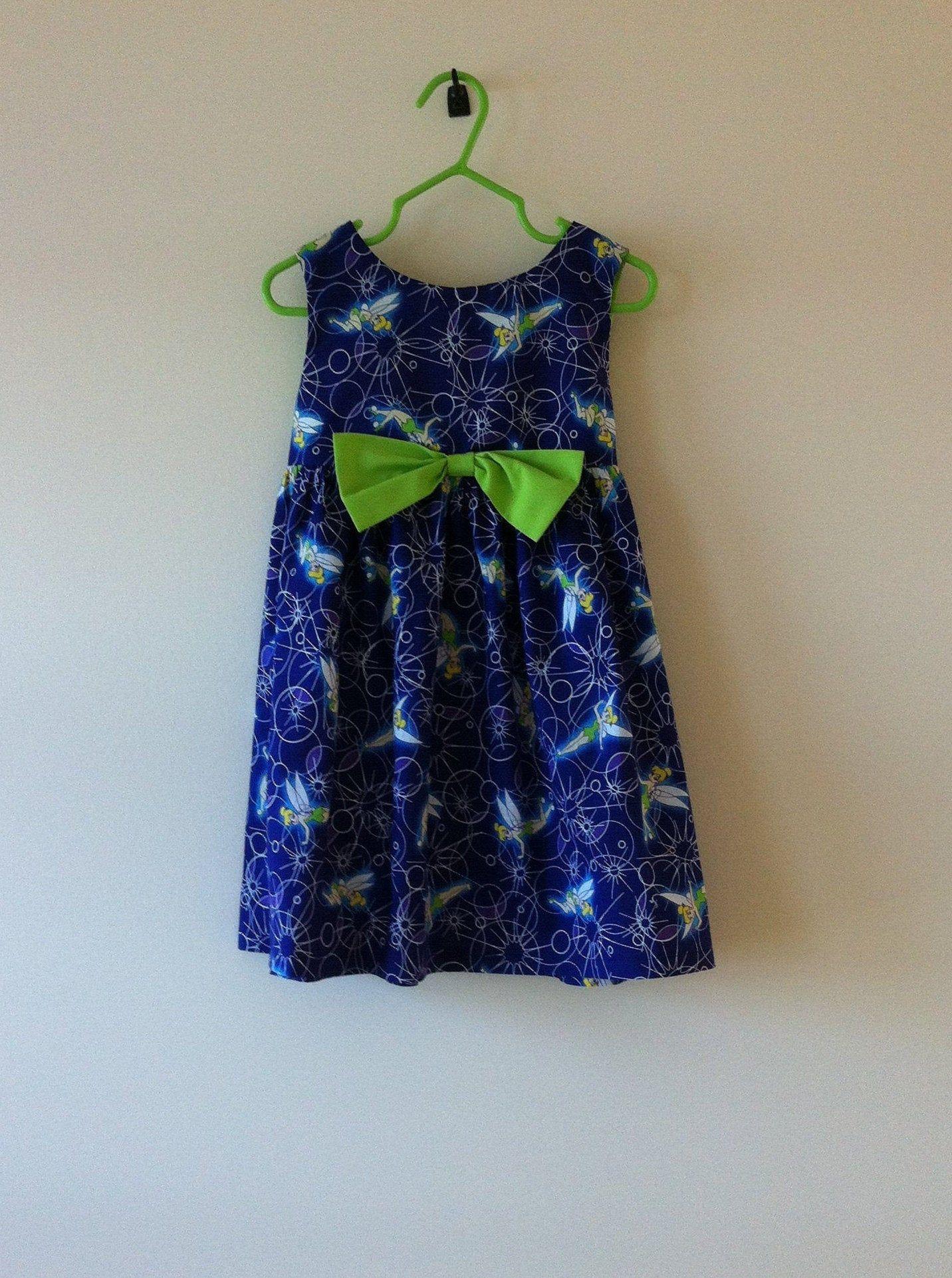 Girl S Blue Cotton Tinkerbell Dress Size 3 Toddler S Etsy Little Girl Dresses Dresses Tinkerbell Dress [ 1922 x 1432 Pixel ]