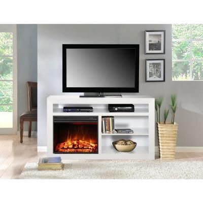 Muskoka Claire 54 In Media Console Electric Fireplace In White