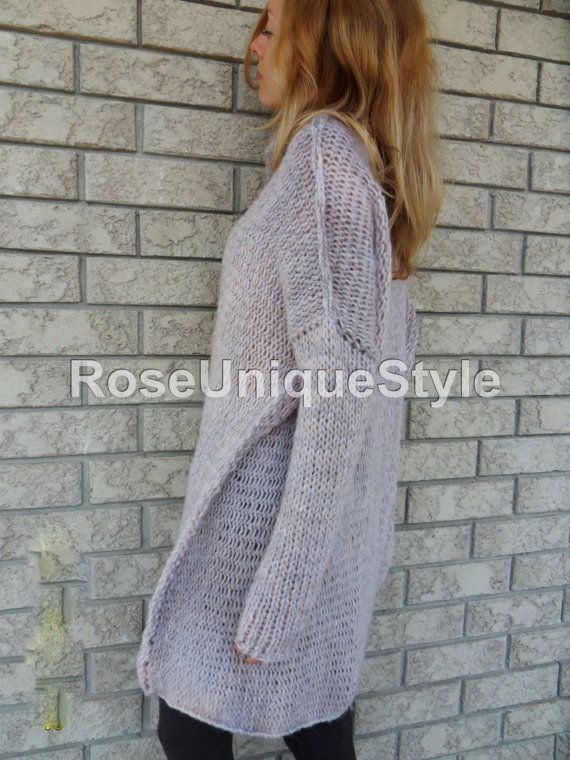 Chunky ,Oversized women knit sweater. Slouchy/Bulky/Loose sweater ...