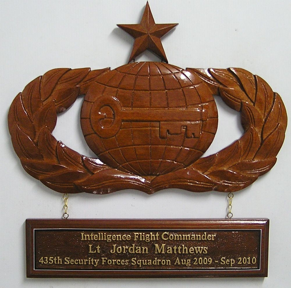 US Air Force Badge Retirement Plaque With Dedication