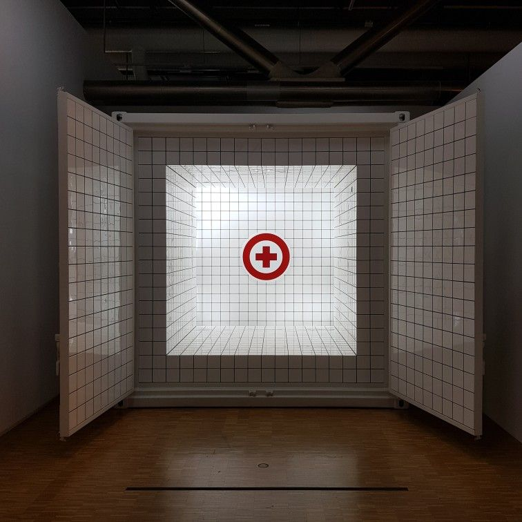 Jean Pierre Raynaud - 'Container zero' a Centre Pompidou #jeanpierreraynaud #centrepompidou