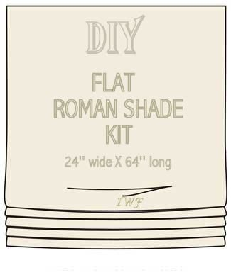 This Diy Roman Shade Kit Is Available For Purchase In My Etsy Make A Professional Looking Flat With Everything Provided